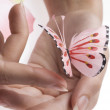 The pink butterfly — Stock Photo