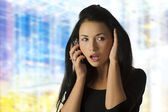 Asian girl calling — Stock Photo