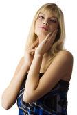 Blond portrait — Stockfoto