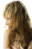 Wet hair — Stock Photo