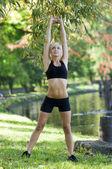 Gym girl — Стоковое фото