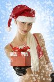 Christmas blond beauty — Stock Photo