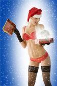 Noël sensuelle en rouge — Photo