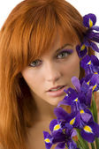 Redhead beauty — Stock Photo