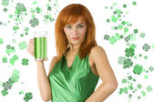 Saint patrick girl — Stockfoto