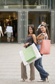 Shopping women — Stockfoto