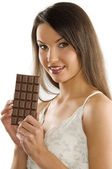 Block of chocolate — Stock Photo