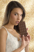 Block chocolate — Stock Photo