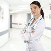 Brunette doctor — Stock Photo