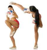 Two kick girl — Stock Photo