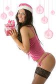 Christmas pinup pink — Stock Photo