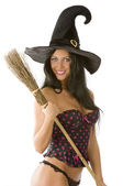 Sexy witch smiling — Stock Photo