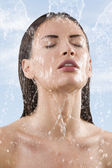 Fresh water on face — Stock Photo