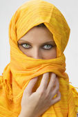 Yellow burka — Stock Photo