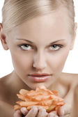 Beauty portrait close up — Stock Photo
