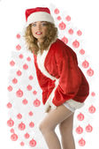 Noel and stocking — Stock Photo