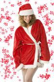 Pretty santa claus — Stock Photo