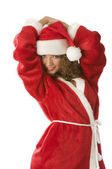 Santa claus posing — Stock Photo