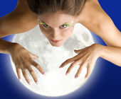 Mad woman moon — Stock Photo