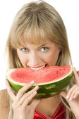 The watermelon — Stock Photo