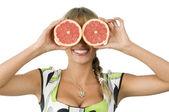 Glasses grapefruit — Stock Photo