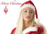 Santa claus blond — Stock Photo