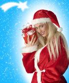 The christmas gift — Stock Photo