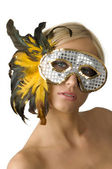 The mask and feather — Stock Photo