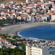 Aerial view of Banyuls sur Mer - Stock Photo