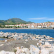 Panorama of Banyuls sur Mer - Stock Photo