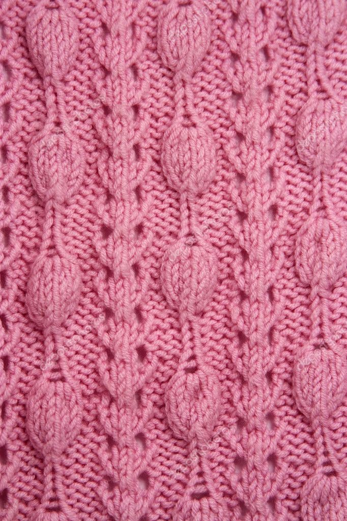 Knitting Patterns For Throws Easy : Knitted jersey pink background   Stock Photo ? Annata78 #4486844