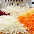 Grated raw vegetables — Stock Photo