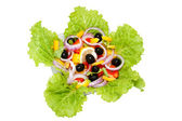 Vegetarian salad with fresh vegetables — Stock Photo