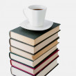 Books and cup of coffee — Stock Photo