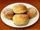Scones on a Plate — Stock Photo