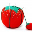 Pin Cushion with Pins - Stock Photo