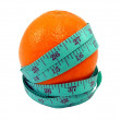 Orange with Measuring Tape — Stock Photo