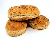 Bread Rolls with Seeded Tops — Stock Photo