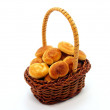 Stock Photo: Basket of Bread Rolls