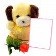 Stock Photo: Teddy Bear Valentine with Copy Space