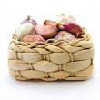 Garlic in a Basket — Stock Photo