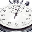 Stock Photo: Image of stop watch counting seconds, isolated, on w