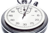 The image of a stop watch counting the seconds, isolated, on a w — Stock Photo