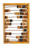 Staré dřevěné počítadlo s vypočtený součet — Stock fotografie