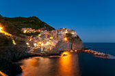 Manarola in dusk — Stock Photo