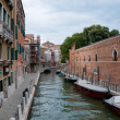 Small canal in Venice - Stock Photo