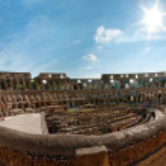 Colosseum panorama — Stock Photo #4576885