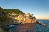 Manarola at the sunset — Stock Photo