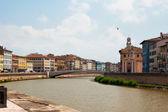 Bridge over the Arno river — Stock Photo