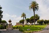 Widok na ogrody watykańskie — Zdjęcie stockowe